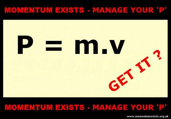 p = m.v  ( pending)