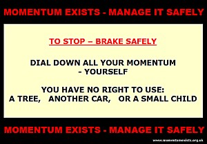 to stop - brake safely